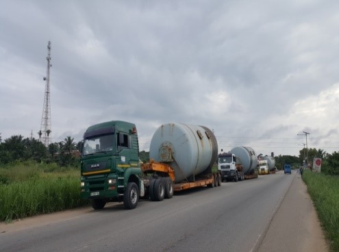 • Clearance and delivery of 10*60 ton ball mill cylinders from Tema port to Wankgang factory in Takoradi